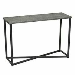 Household Essentials 8091-1 Slate Faux Concrete Sofa Table |