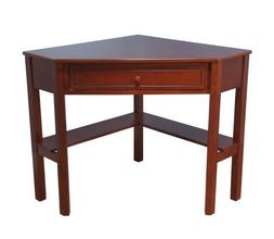 1 Drawer Corner Writing Desk, Cherry