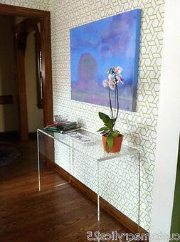 """1"""" Thick Clear Acrylic Waterfall Style Console Table - 36""""L"""