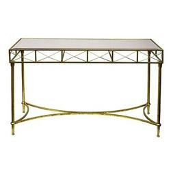 Sagebrook Home 11064 Metal Console Accent Table, Gold Metal,