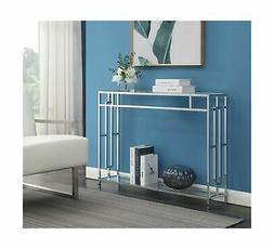 135099 town square console table clear glass