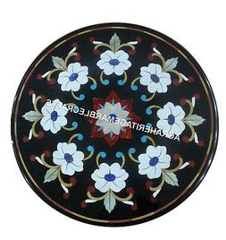 "15"" Marble Console End Table Top Marquetry Inlaid Kitchen In"