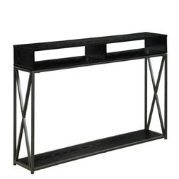 Tucson Deluxe 2 Tier Console Table 161889BL, Black Finish