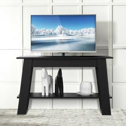 2 Tier Elevated TV Stand Coffee Table Multipurpose Storage C