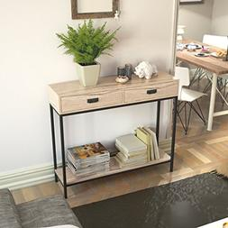 Roomfitters 2 Drawer Entryway Console Table, Sofa Table for