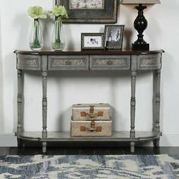 Coast to Coast 2 Drawer Half Round Console Table
