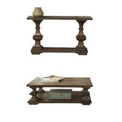 2 Piece Living Room Set Console Table and Coffee Table in Ko