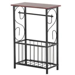 2 Tier Coffee Tray Side End Sofa Table Storage Shelf Couch R