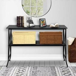 2-Tier Hallway Entryway Table Sofa Console Table TV Media St