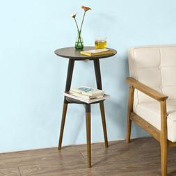 Haotian 2 Tier Wooden Side Table, Tea Table, End Table,Conso