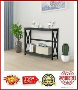 """2-Tier X-Design Console Table Sofa Side End Table Accent Ta"