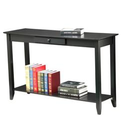 Yaheetech 2 Tiers Concepts Wood Console Table with Drawer an