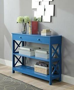 Convenience Concepts 203295BE Oxford Console Table Blue