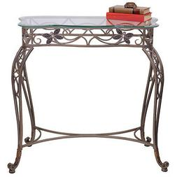 2104 - Silver Metal Console Table