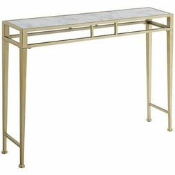 Convenience Concepts 227899WMG Console Table, White Faux Mar