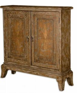 Uttermost 25526 Maguire Distressed Console Cabinet