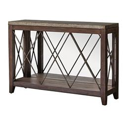 "Uttermost 25765 Delancey - 50"" Console Table, Weathered Oak/"