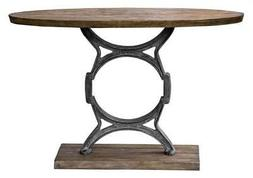 Uttermost 25844 Wynn Industrial Tapered Oval Console Table