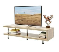 2Tier TV Stand Rustic Entertainment Center with Shelves Home