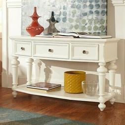 Beaumont Lane 3 Drawer Wood Console Table in White