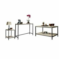 3 Piece Coffee Table Set with Coffee Table and Console Table
