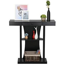 Yaheetech 3 Tier Console Tables for Entryway Table with Stor