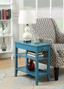 3-Tier End Table W/ Drawer Storage Sofa Side Accent Console