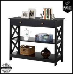 Yaheetech 3-Tier Sofa Side Console Table With 1 Drawer And 2