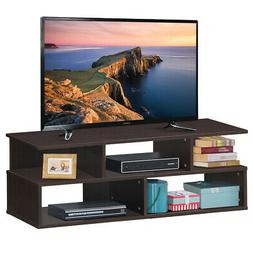 3-Tier TV Stand Wood Media Unit Console Table Storage Cabine