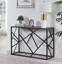 "Homissue 30"" Height Console Sofa Table with Sturdy Criss-c"