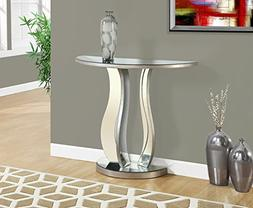 "36""L BRUSHED SILVER MIRROR CONSOLE TABLE"