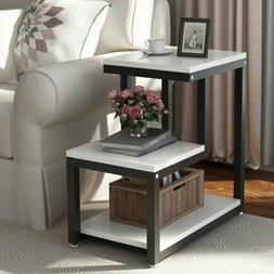 """3Tier Accent Side End Table Sofa Console 15.7""""Book Storage S"""