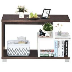 3Tier Rectangular Coffee Table with Storage Shelf Home Offic