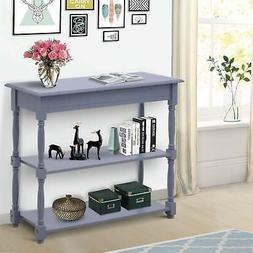 40 wood entryway console table