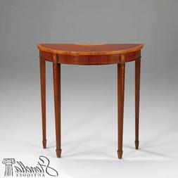 40304: Inlaid Mahogany Federal Design 1/2 Round  Console Hal