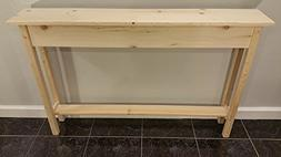 """46"""" Unfinished Pine Narrow Wall, Foyer, Sofa, Console, Hall"""