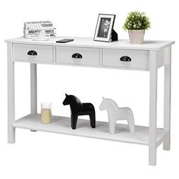 47'' Console Table, Home Office Computer Desk Table with