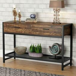 Tribesigns 47'inches Rustic Entry Sofa Console Table with 2