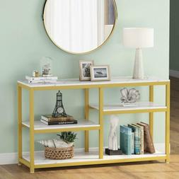 """Tribesigns 47"""" Rustic Console Table 4-Tier Vintage Sofa Entr"""