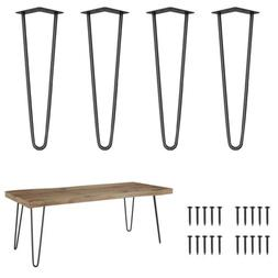 4Pcs Hairpin Table Legs | Console Table Hairpin Legs 8'' 12'