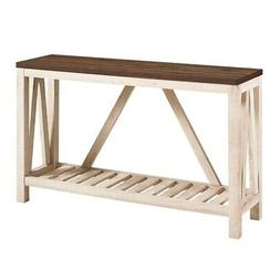 """52"""" A-Frame Rustic Entry Console Table - Dark Walnut Top wit"""