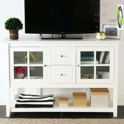 """We Furniture 52"""" Console Table Wood Tv Stand Console, White"""