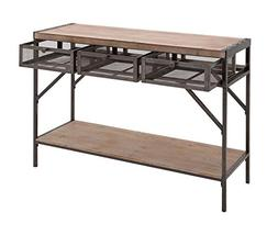 Deco 79 54486 Metal & Natural Wood Console Table with Metal