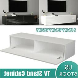 """55"""" High Gloss TV Stand Cabinet Console Furniture Table Shel"""