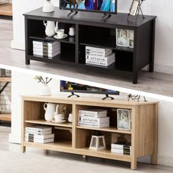 """58"""" Wood TV Stand Storage Console Table with 2 Tiers Shelvin"""