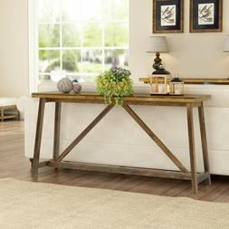 59 extra long rustic console table brown