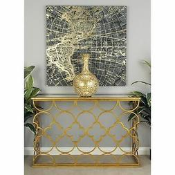 67050 metal mirror console table