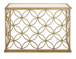 67062 metal glass console table