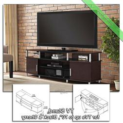 70 Inch TV Stand Console Table Carson Wood Media Stands for