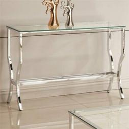 Coaster 720339 Clear Glass Top Mirrored Shelf Contemporary S